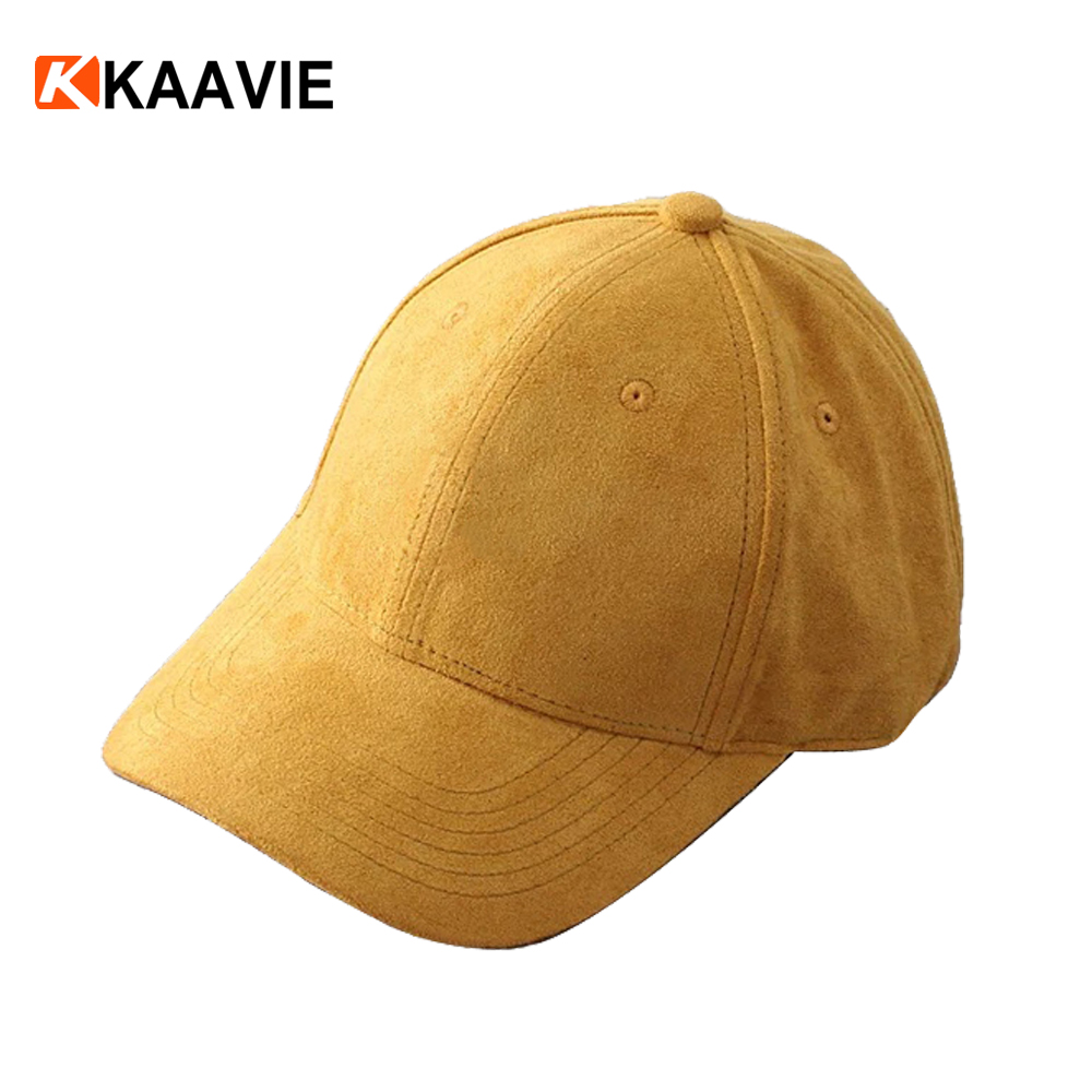Custom new meek era unisex plain yellow blank 6 panel suede dad hat and cap