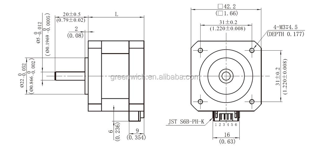 Nema23 hybrid stepper motor frame size 57mm buy hybrid for Servo motor frame sizes