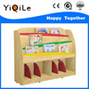 Popular and bright color wooden book shelf