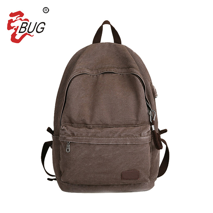 Wholesale China Manufacturer Vintage School Usb Canvas Backpack for 14 inch Computer