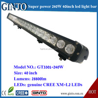High intensity 10W led light bar, 240W 40inch 10W XML-2 4x4 LED light bar for truck