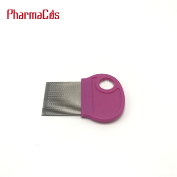 plastic handle metal comb lice comb with magnifying glass