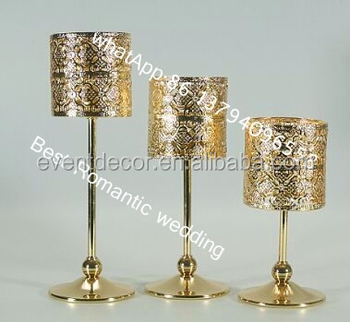 antique metal candle holdergold candle holder for wedding - Gold Candle Holders