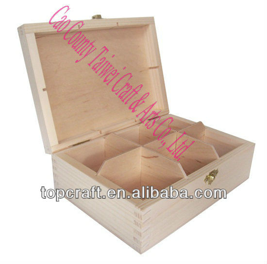 2013 hot selling wooden tea case with 6 Compartments