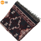 Latest fashion Large square winter ponchos scarf with tassels