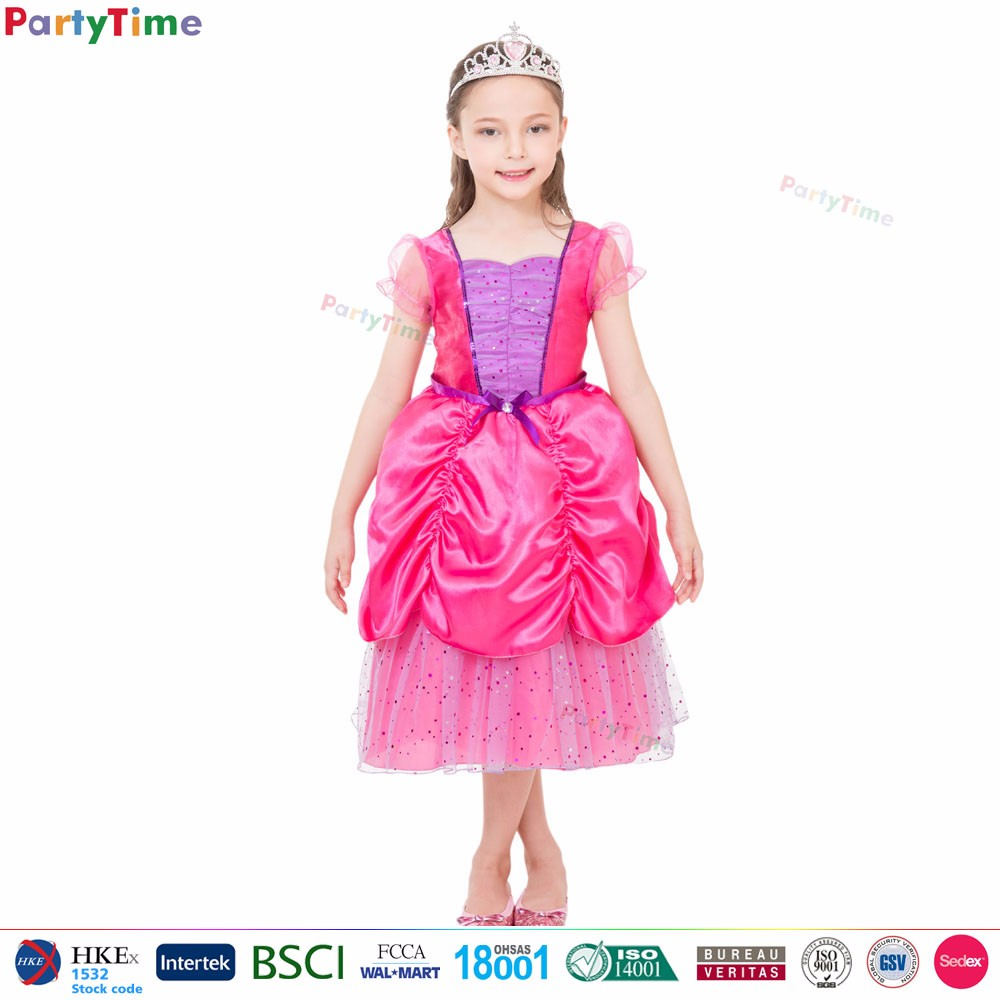 Kids Pink Sweet Princess Dress Cheap Party Costumes Halloween ...