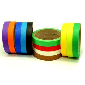 Custom Crepe Paper Craft Multi Colored Thin Masking Tape