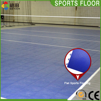 PP Plastic Interlocking Removable durable high strength volleyball court flooring mat surfaces