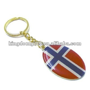 Brass keychain with epoxy coating