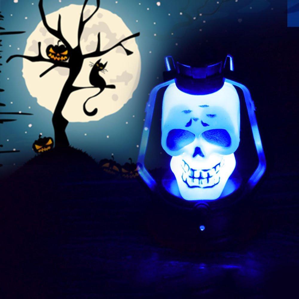 Hanbaili Portable LED Skull Mini Night Light Lamp For Halloween Party Decioration