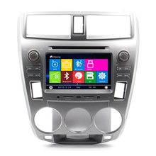 "8"" Car DVD Player Audio GPS navigation system For Honda City 2012 With Bluetooth Steering wheel control Free Map"