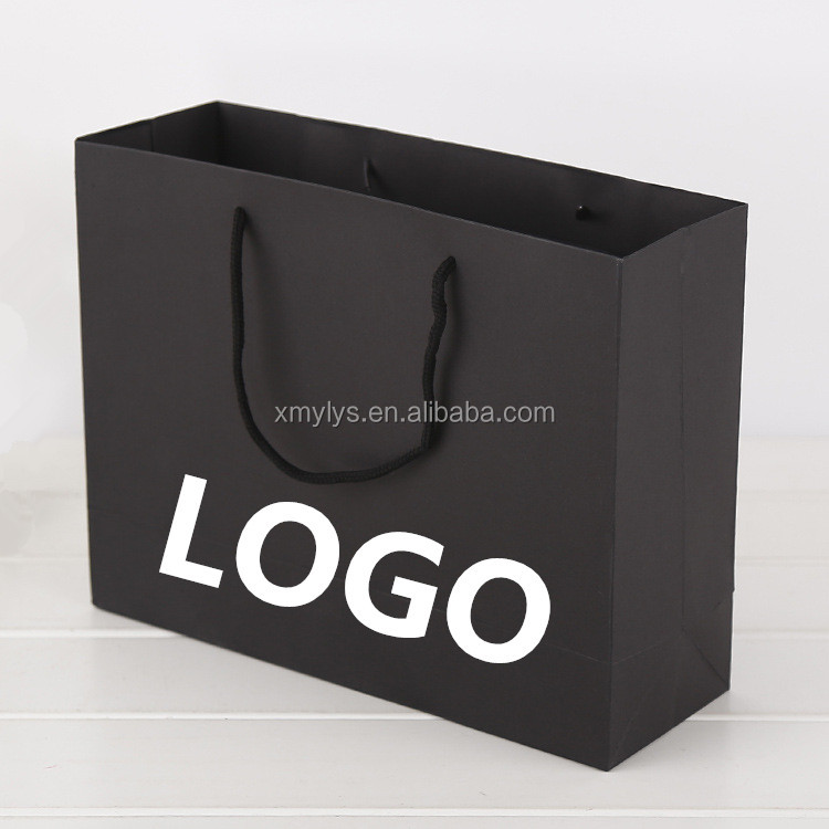 Custom Logo Gift Packaging Printed Paper Boutique Shopping Bag with Handles
