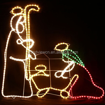 110cm high nativity scene outdoor christmas decorations rope lights - Nativity Outdoor Christmas Decorations