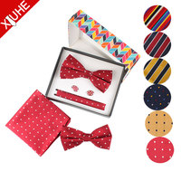 wholesale African Fashion summer boys handkerchief bow tie sets for Men