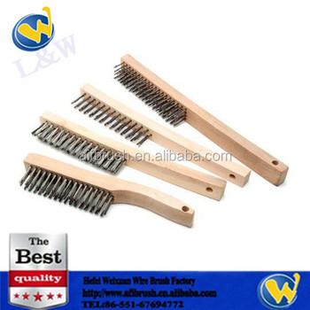 Stainless Steel Welding Wire Brush Wooden Handle Buy Stainless Steel Welding Wire Brushstainless Steel Brushwelding Wire Brush Product On