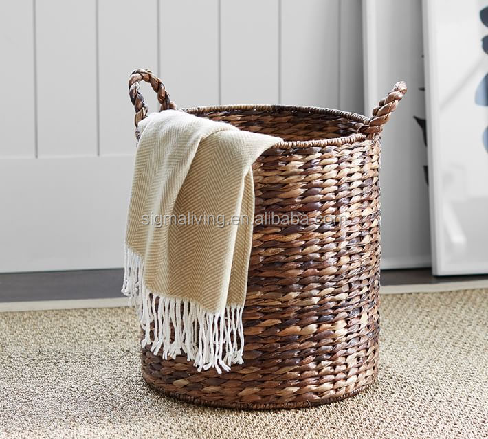 Classic design handmade wicker basket rattan storage tote basket
