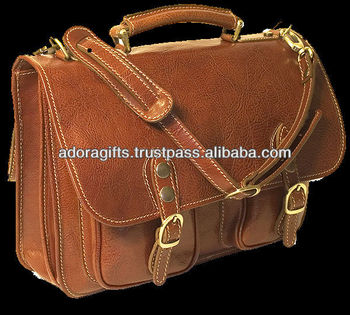 Brand Leather Office Bags For Men Reasonable Price Pure Laptop Eco Friendly