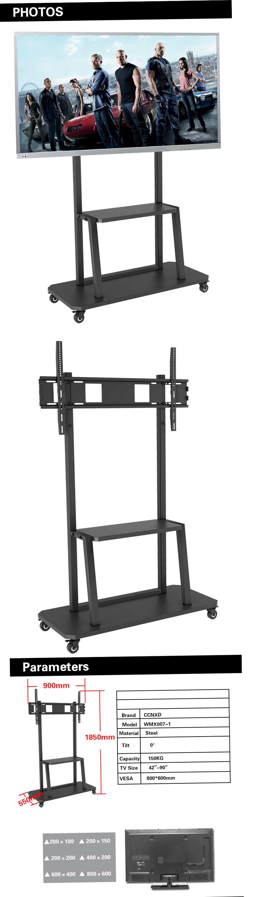Exhibition Stand Training : Training room tv trolley stand for quot display