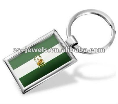 "AAA quality Keychain ""Andalusia"" Flag region: Spain - Hand Made, Key chain ring"