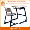Modern school desk and chair with pen groove and bag hook