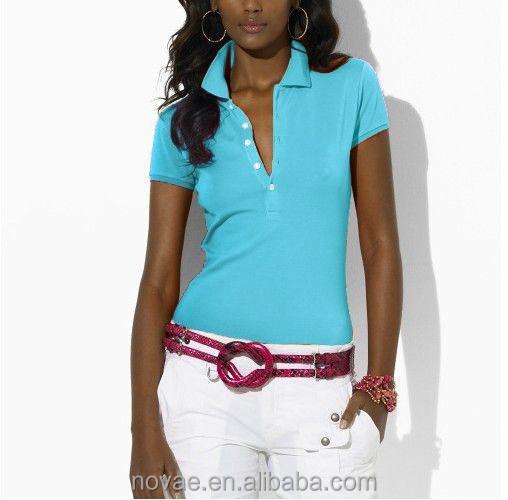 a11a8c4adc3 Camisas de polo de moda para las mujeres deporte casual mujer camisetas polo  100% algodón