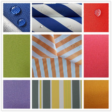 thinner striped polyester awning fabric