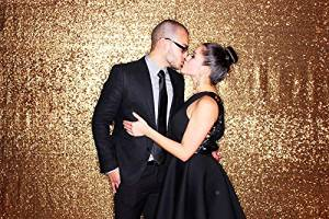 8ft x 10ft Gold wedding backdrop Party backdrop Photography backdrop Custom size and color