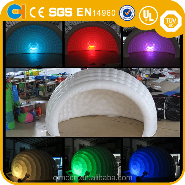 Inflatable LED lighting tent ,Inflatable igloo tent for outdoor party,Inflatable canopy tent for sale