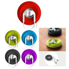 प्रचार मिनी जेब बहु-समारोह सिलिकॉन वर्ग स्मार्टफोन के साथ earbuds केबल तार का तार टाई ईरफ़ोन कॉर्ड धारक खड़े हो जाओ