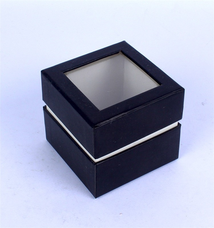 Custom cheap window jewelry packaging box with lid