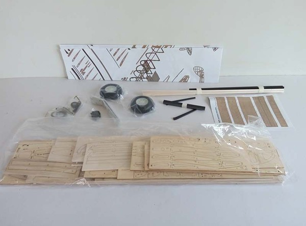 Balsa Wood RC Airplane Model 1.4m Tiger Moth Balsa Kit For Gas Power and Electric Power Only KIT Without Covering