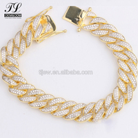 Factory direct sale hand 14k gold mens cuban link+hollow cuban link