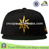 100% cotton gold 3d design cheap flat brim snapback caps/hat