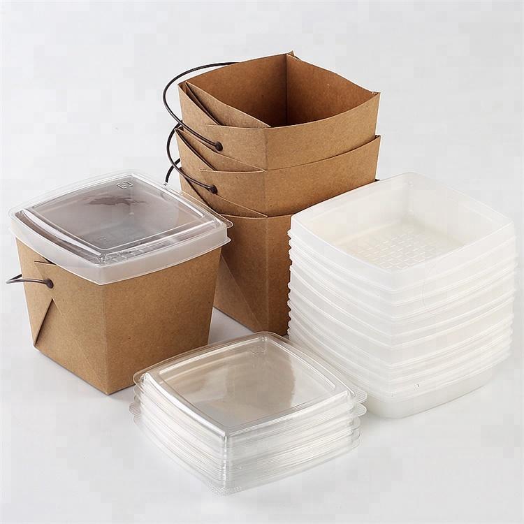 Nouveau design à pâtes à emporter boîte d'emballage avec poignée