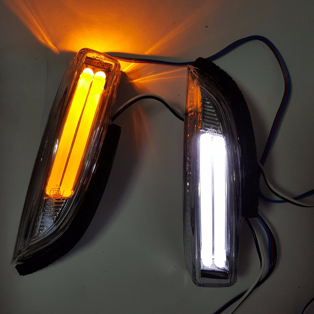 2 Pcs Rearview Rear View Mirror Led Turn Signal Light