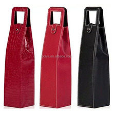 2015 wholesale leather red wine bag