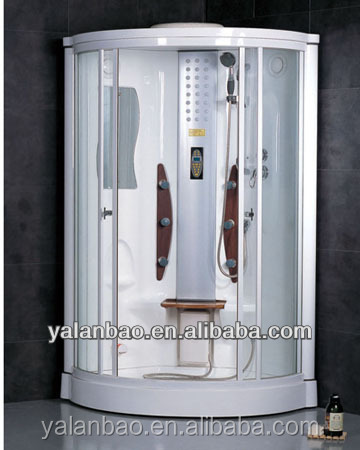 Hot sale steam shower parts/Simple low tray steam sauna shower combination without massage tub