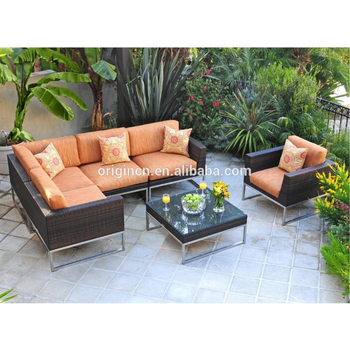 Outdoor Leisure E Use Stunning Wicker Conversation Set With Stainless Steel Base Garden Treasures Patio Furniture