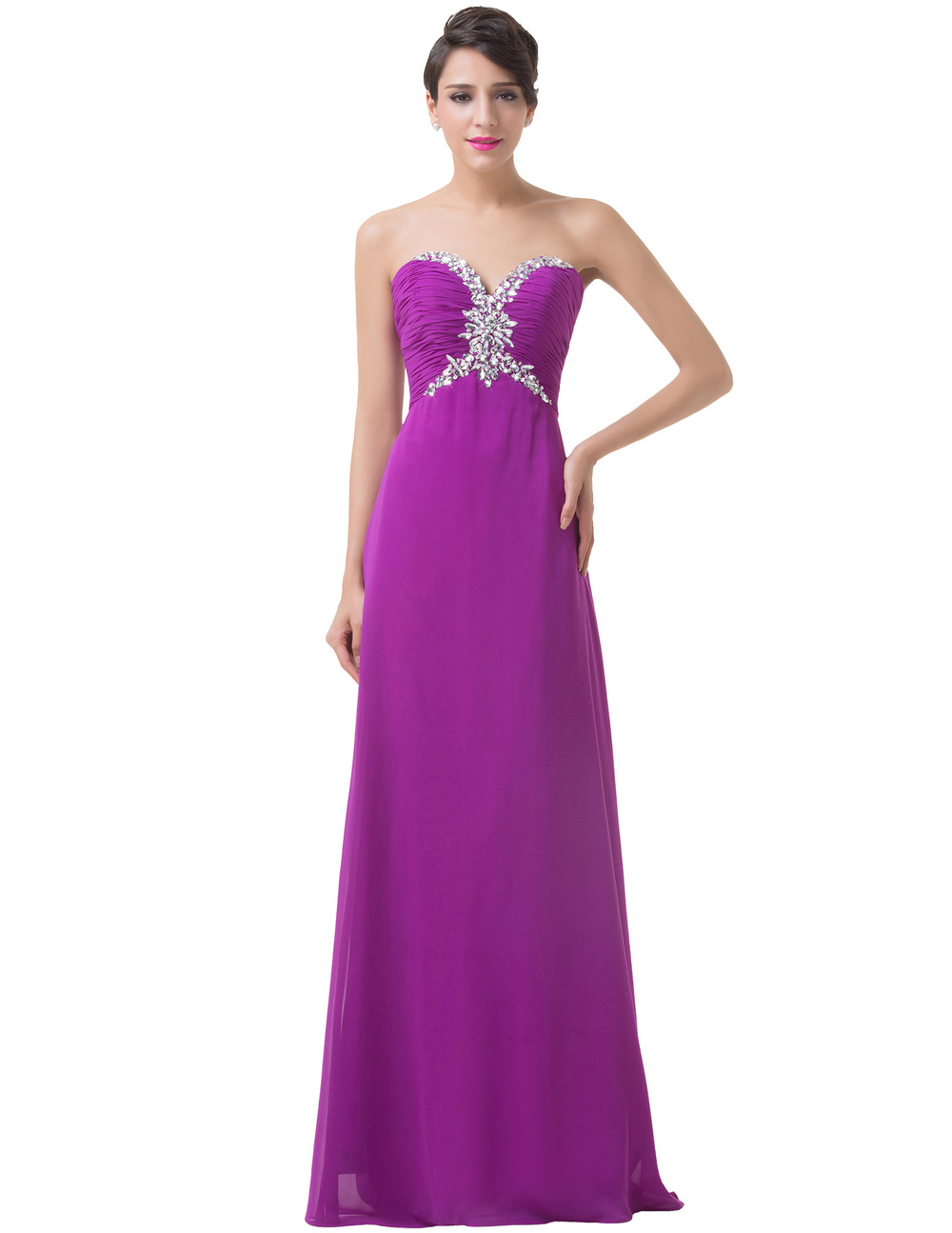 Grace karin build in bra strapless prom dresses women formal gowns grace karin build in bra strapless prom dresses women formal gowns purple dress chiffon long bridesmaid ombrellifo Image collections