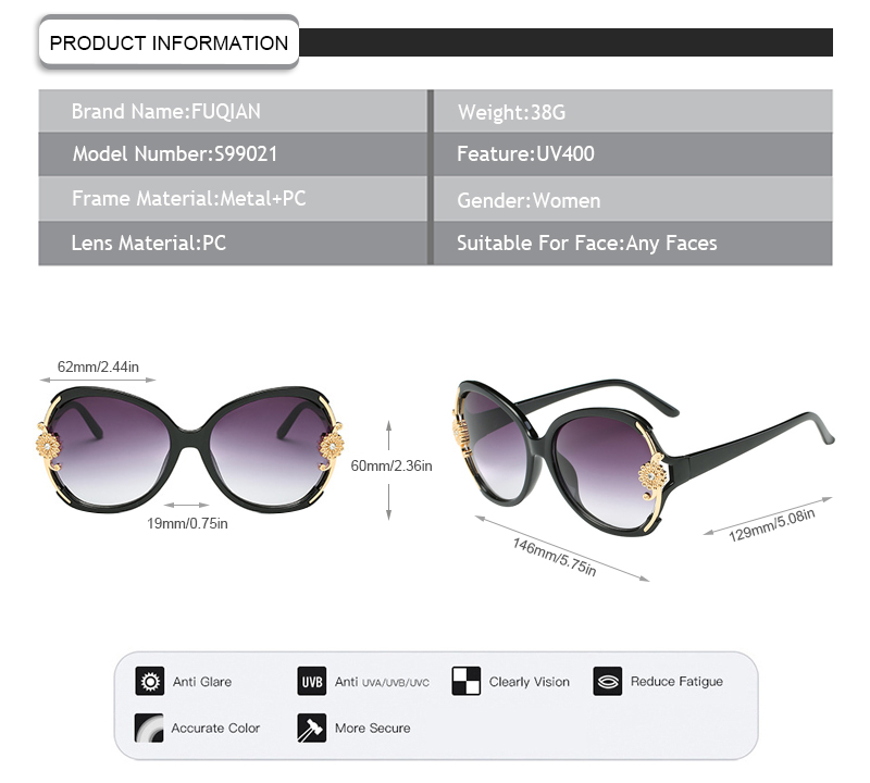 Fuqian Latest buy polarized sunglasses ask online for lady-5