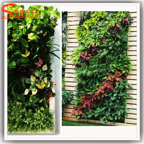 Pl stico hierba decoraci n vertical garden green sistema for Hierba artificial jardin