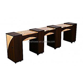 Nail Bar Tables With Used Nail Salon Equipment For Vented Manicure ...