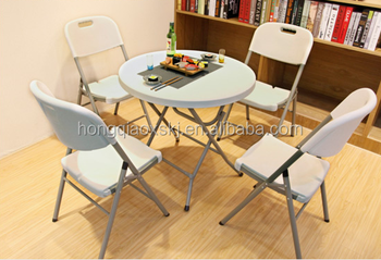 80cm Round Bar TablePlastic Cocktail Small TableWhite Dining