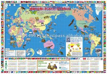 World map of endangered species buy world mapmapplastic world world map of endangered species gumiabroncs Choice Image