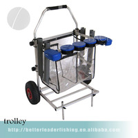 66*56*96cm 5.8kg cheap aluminium fishing carry trolley with winch China