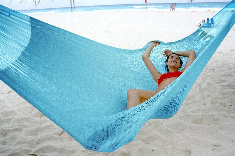 Hammocks Rada- Handmade Yucatan Hammock - Matrimonial Size Sky Blue Color - T... ;from#john27__JENT83311516161124