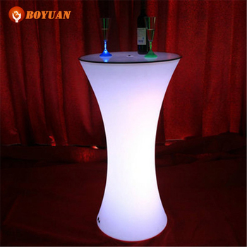 Pe Plastic Led Light Up Outdoor Furniture Night Club Led