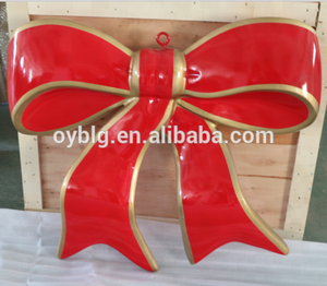 Unique and Creative Design Fiberglass Bowknot for christmas decoration
