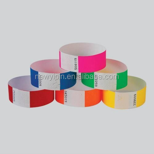 Tyvek Paper Security and Event Wristbands - CHOICE OF COLOURS