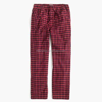 bb03344a3 OEM adulto sexy men nightwear algodão atacado flanela calças de pijama em  marinha tattersall